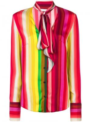 Рубашка в полоску с завязкой Milly. Цвет: разноцветный