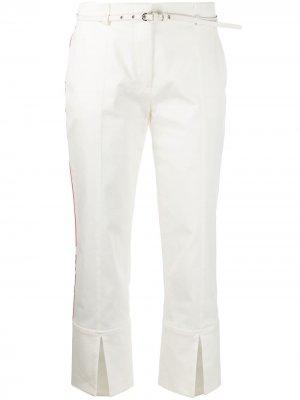 Укороченные брюки с лампасами и разрезами Emilio Pucci. Цвет: белый