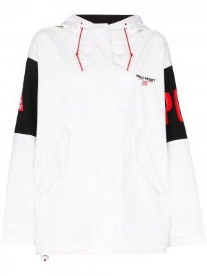 Спортивная куртка с аппликацией-логотипом Polo Ralph Lauren. Цвет: белый