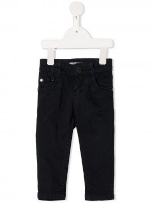 Прямые джинсы средней посадки Cesare Paciotti 4Us Kids. Цвет: синий