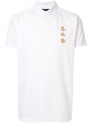 Рубашка-поло Xu Bing с воротником-стойкой Shanghai Tang. Цвет: белый