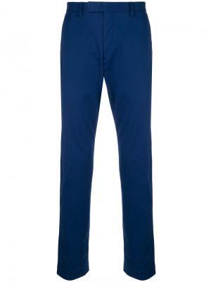 Прямые брюки чинос Polo Ralph Lauren. Цвет: синий