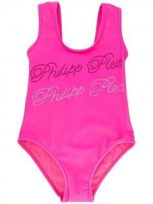 Купальник Monokini с декорированным логотипом Philipp Plein. Цвет: розовый