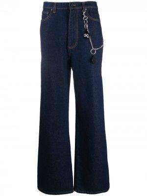 Деконструированные джинсы широкого кроя DUOltd. Цвет: синий