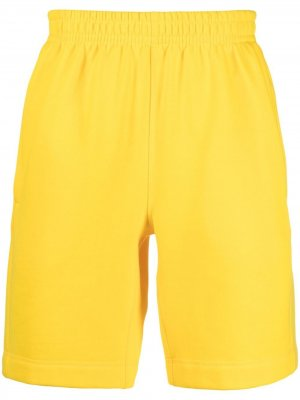 Спортивные шорты с нашивкой-логотипом Styland. Цвет: желтый