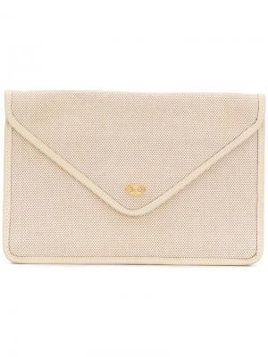 Клатч-конверт Céline Vintage. Цвет: нейтральные цвета