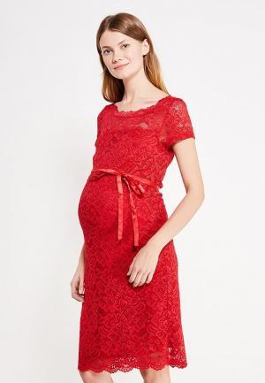Платье Mamalicious. Цвет: красный