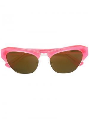 X Linda Farrow солнцезащитные очки Dries Van Noten Eyewear. Цвет: оранжевый