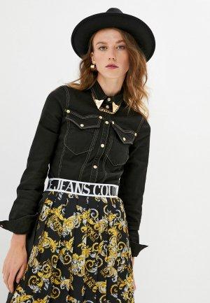 Рубашка джинсовая Versace Jeans Couture. Цвет: черный