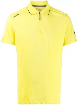 Рубашка поло на молнии Hackett. Цвет: желтый