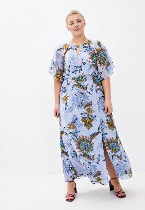 Платье Junarose. Цвет: голубой