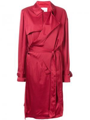 Платье в стиле тренч A.F.Vandevorst. Цвет: красный