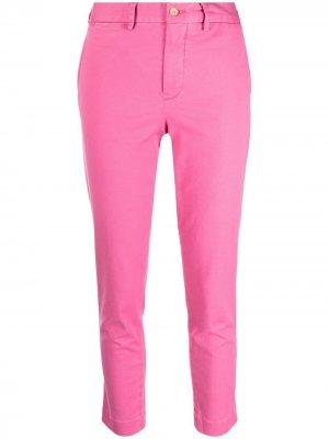 Укороченные брюки кроя слим Polo Ralph Lauren. Цвет: розовый