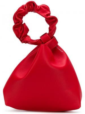 Сумка-тоут со стилизованной ручкой Elena Ghisellini. Цвет: красный