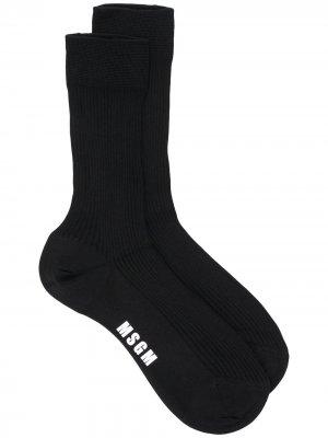 Носки с логотипом MSGM. Цвет: черный