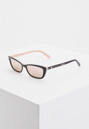 Очки солнцезащитные Love Moschino. Цвет: черный