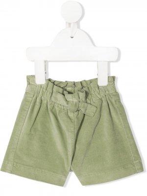 Бархатные шорты-бермуды Il Gufo. Цвет: зеленый