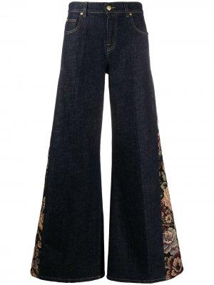 LAutre Chose широкие джинсы с цветочным принтом L'Autre. Цвет: синий