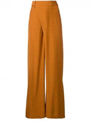 Широкие брюки с запахом 3.1 Phillip Lim. Цвет: оранжевый