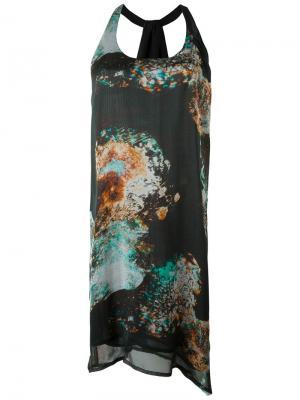 Платье Esk Minimarket. Цвет: разноцветный