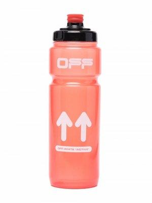 Бутылка с логотипом Off-White. Цвет: красный