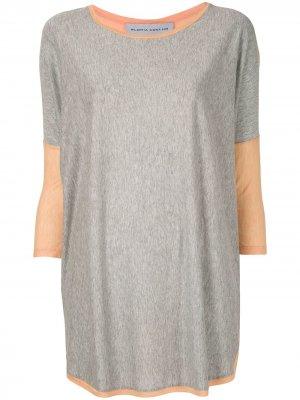 Блузка в рубчик Gloria Coelho. Цвет: разноцветный