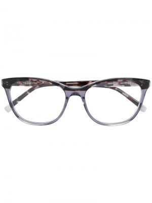 Очки в квадратной оправе с принтом Calvin Klein Jeans. Цвет: серый
