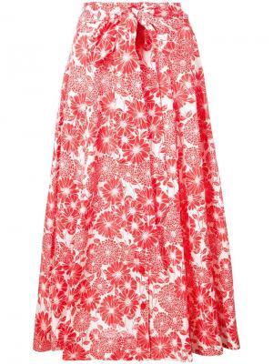 Пляжная юбка с принтом Lisa Marie Fernandez. Цвет: красный