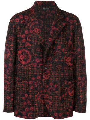 Блейзер с цветочным принтом Engineered Garments. Цвет: красный