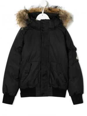 Hooded bomber jacket Pyrenex Kids. Цвет: черный