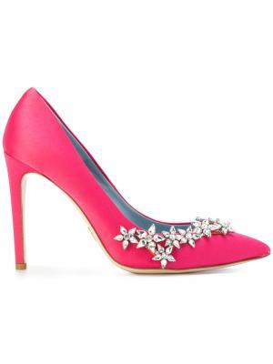 Туфли-лодочки с заостренным носком Chiara Ferragni. Цвет: розовый и фиолетовый