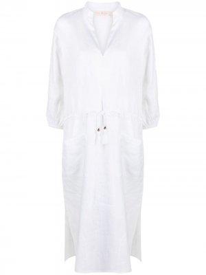 Платье-туника с поясом Tory Burch. Цвет: белый