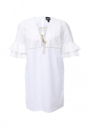 Платье Just Cavalli. Цвет: белый
