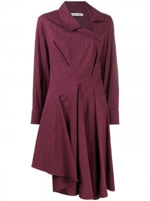 Платье-рубашка Enata асимметричного кроя Palmer//Harding. Цвет: красный