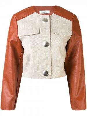 Укороченная куртка Kayla Rodebjer. Цвет: нейтральные цвета