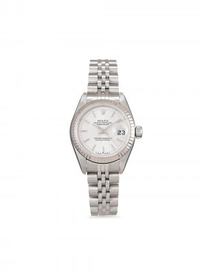 Наручные часы Lady-Datejust pre-owned 26 мм 2000-х годов Rolex. Цвет: серебристый