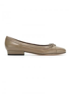 Балетки с круглым носком Sarah Chofakian. Цвет: нейтральные цвета