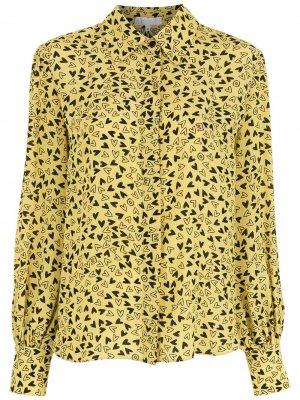 Рубашка с принтом Nk. Цвет: желтый