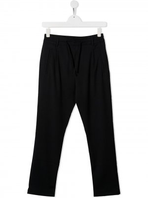 Спортивные брюки прямого кроя Paolo Pecora Kids. Цвет: синий