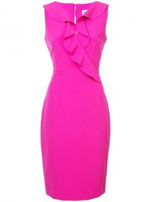 Платье-карандаш с оборками Milly. Цвет: розовый