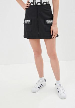 Юбка adidas Originals. Цвет: черный