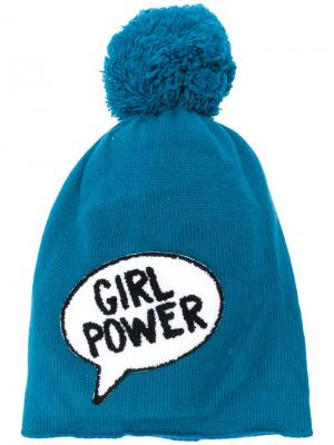 Girl power pom-pom hat Ultràchic. Цвет: синий