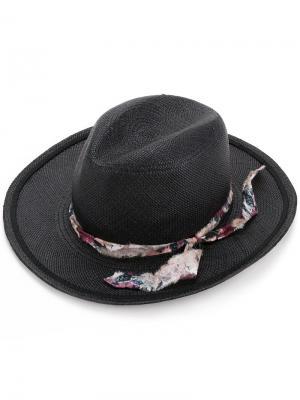 Шляпа с необработанной лентой Undercover. Цвет: черный