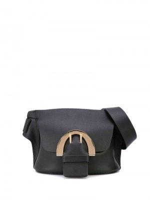 Поясная сумка с пряжкой Zac Posen. Цвет: черный