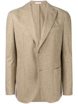 Textured blazer Boglioli. Цвет: нейтральные цвета