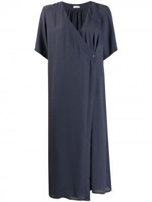 Платье миди Amalia с запахом Filippa K. Цвет: синий
