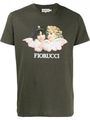 Футболка с принтом Vintage Angels Fiorucci. Цвет: зеленый