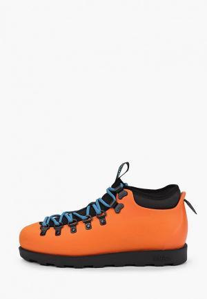 Ботинки Native. Цвет: оранжевый