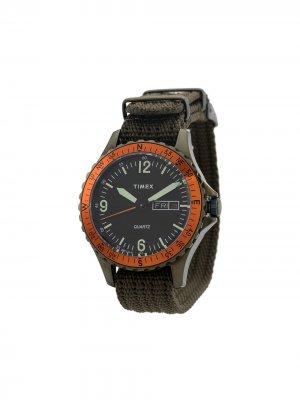 Наручные часы Navi Land 38 мм TIMEX. Цвет: зеленый