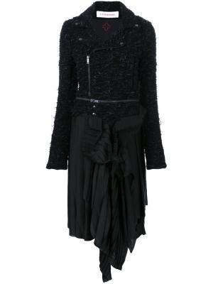 Платье в байкерском стиле A.F.Vandevorst. Цвет: чёрный